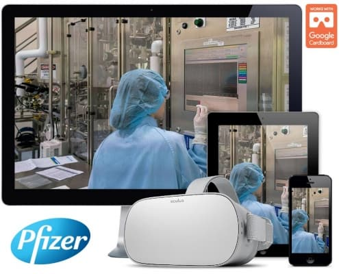 Pfizer 360° Video and 360° VR Tour